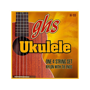 GHS - Hawaiian Ukulele H-10 Black Nylon Ukulele Strings 25-32-36-28 - Musko Music Store