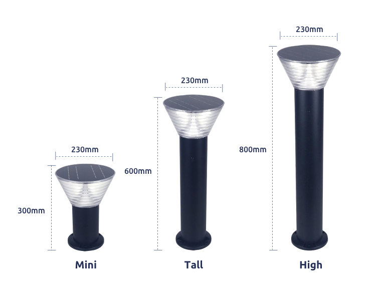Galvani Solar Bollard Light Circle