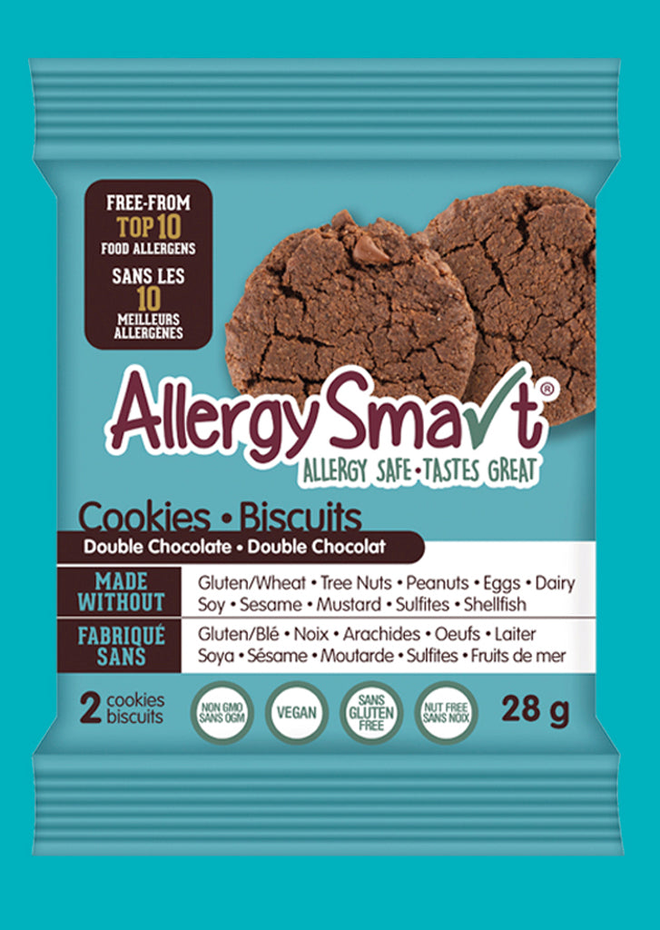 AllergySmart Double Chocolate Cookie - 1 Tray of 12 x 2 pk (28g), 336g