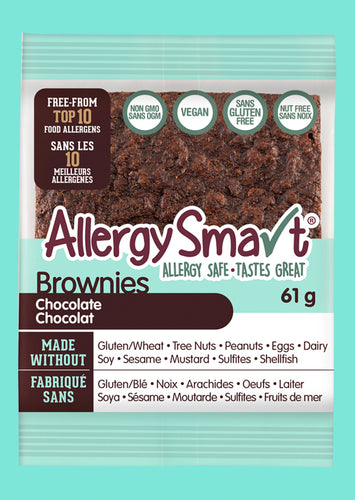 AllergySmart Chocolate Brownie Trays (6 or 12 Packs)