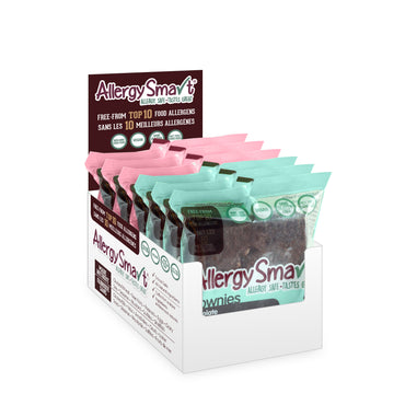 AllergySmart Brownie Flavour Sampler - 1 Tray of 6 x 2 pk (61g), 366g