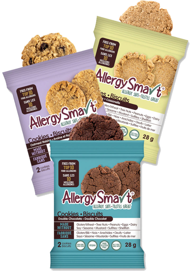 AllergySmart Cookie Flavour Sampler - 1 Tray of 12 x 2 pk (28g), 336g