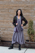 Load image into Gallery viewer, PATCHWORK DRAPE SWEATER-PURPLE