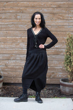 Load image into Gallery viewer, OFF KILTER SKIRT-BLACK