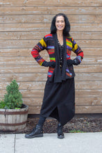 Load image into Gallery viewer, PATCHWORK DRAPE SWEATER- PRIMARY