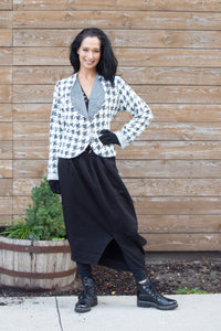 SISTA' SWEATER-HOUNDSTOOTH