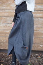 Load image into Gallery viewer, OFF KILTER SKIRT-CHARCOAL