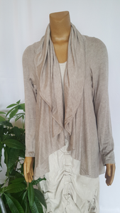 CIRCLE SWEATER-TAUPE