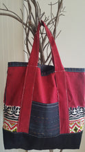 Load image into Gallery viewer, CARRY ALL ADJUSTABLE TOTE BAG-RED