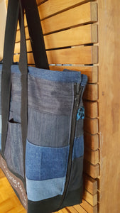 CARRY ALL BAG-RECYCLED DENIM