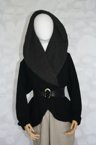 circle jacket black hooded