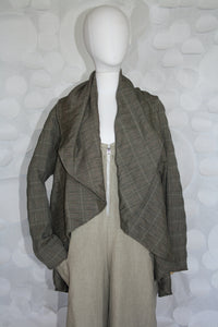 CIRCLE JACKET TAUPE PLAID