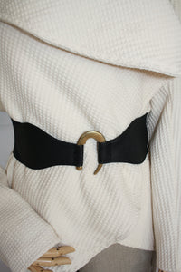 Elasticized Black Belt