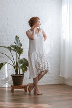 Load image into Gallery viewer, DRAWSTRINGS DRESS-WHITE