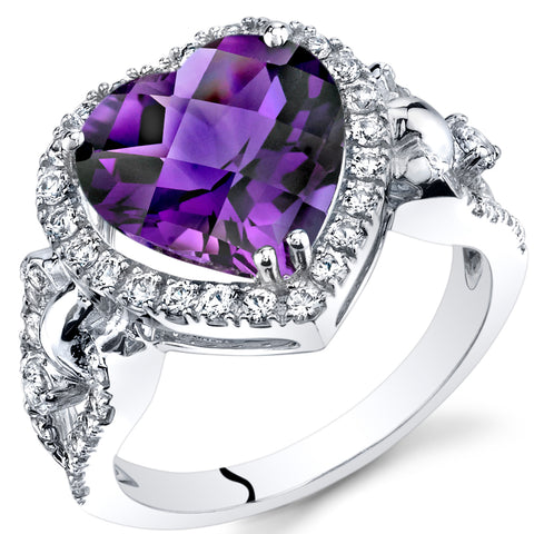 Amethyst is a birthstone of February