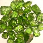 Rough Peridots for Faceting