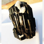 Black Tourmaline Crystal Cluster / Mineral Specimen for Sale