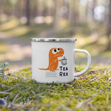 Load image into Gallery viewer, Tea Rex Camping Enamel Mug- Banff Gear