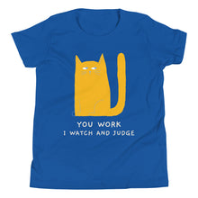Load image into Gallery viewer, Blue Lazy Kitty Tee Shirt