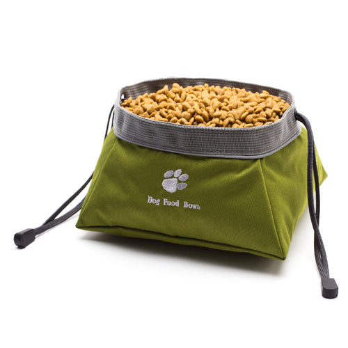 Dog food storage travel bowl