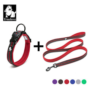 Reflective Dog Collar And Leash Set