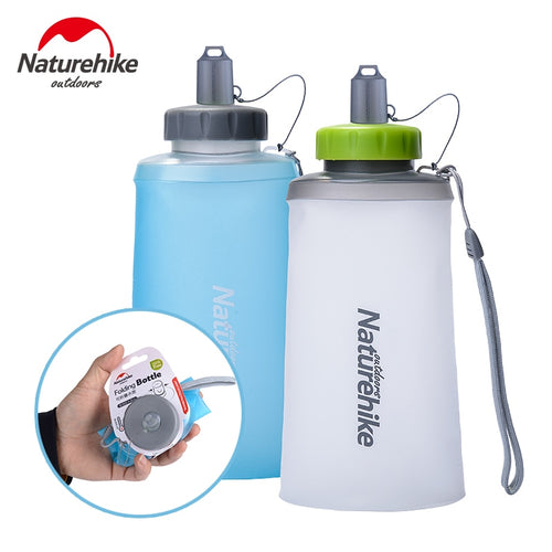 Collapsible water bottle blue or white