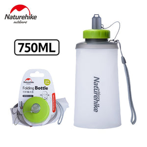 White silicone collapsible water bottle