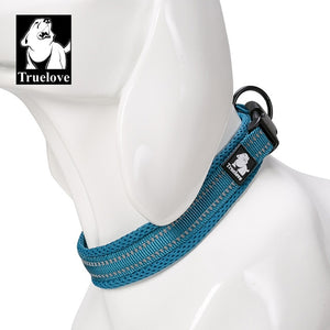 Blue Comfortable dog collar with modern design