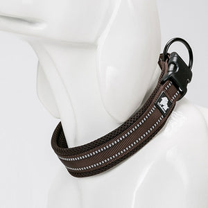 brown dog collar with modern design
