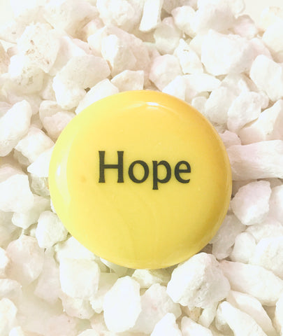 Power Words - HOPE - Glass Palm Stone
