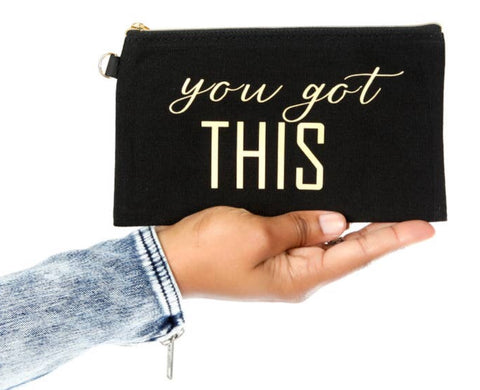 You Got This  - Mantra Quote Bag - Black
