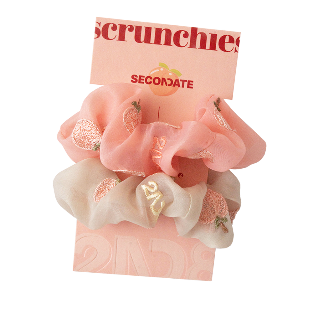 peach scrunchies