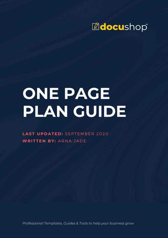 One Page Plan Template & Guide