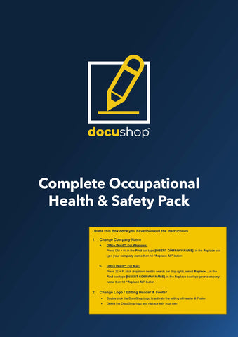 Complete Occupational Health & Safety Pack