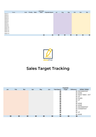 Sales Target Tracking Excel Template