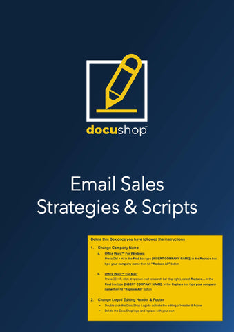 Sales Strategies & Scripts (Email & Phone)