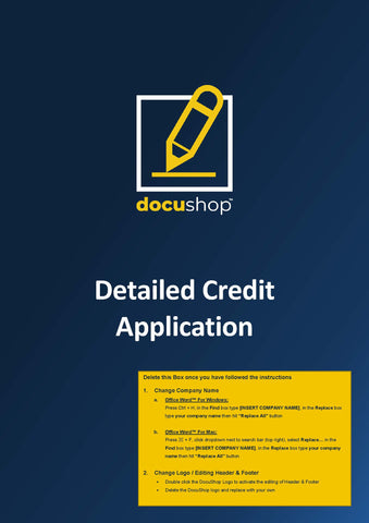 Credit Application Detailed