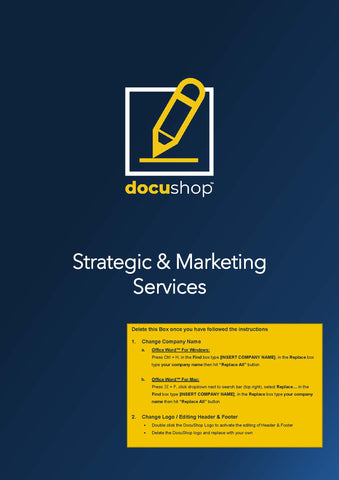 Future Client Proposal - Strategic Advice & Marketing Template