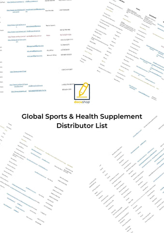 Global Supplement Distributor List