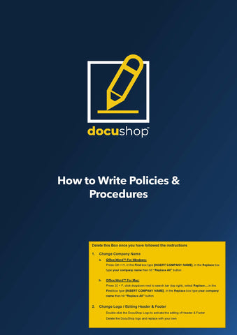 Policies and Procedures Writing Guide