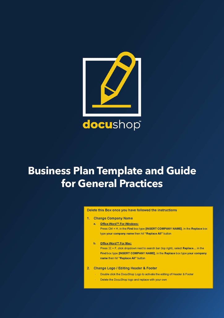 Medical Practice Business Plan Template