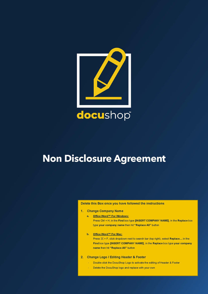 Non Disclosure Agreement - Investor