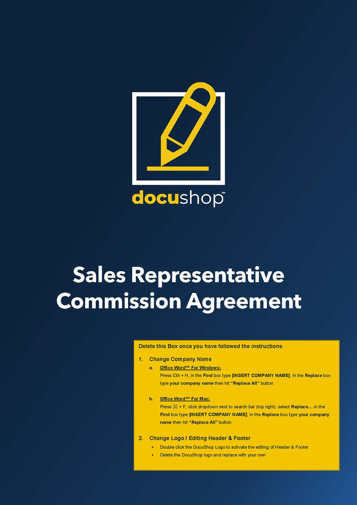 Sales Representative Commission Agreement