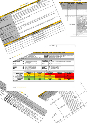 JSA Safety Risk Assessment Template