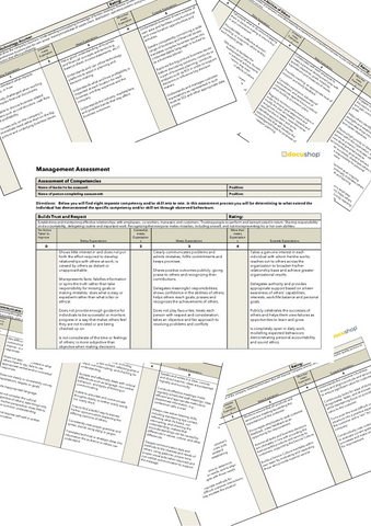 Management Assessment Template