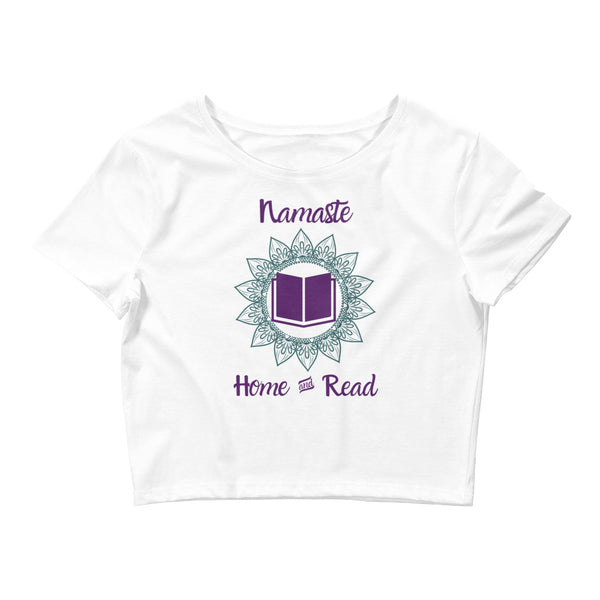Women's Namaste Home & Read Crop Tee