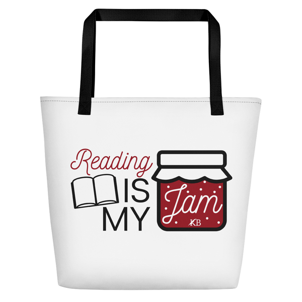 Reading is my Jam - Beach and Book Bag