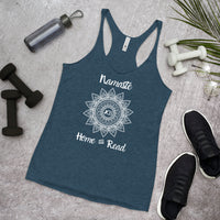 Women's Namaste Home and Read Yoga Racerback Tank