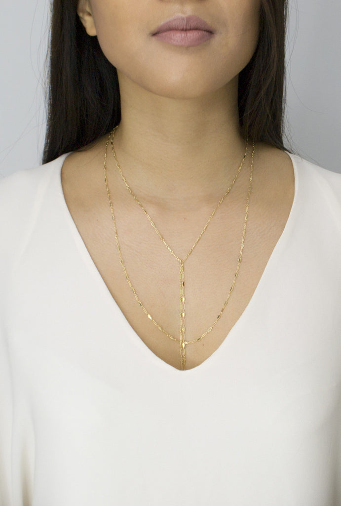Aimie layered and long lariat necklace - KOOKII B