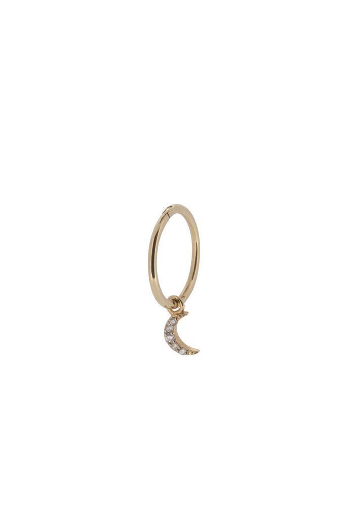 Ayla moon crescent hoop earring - Left - KOOKII B